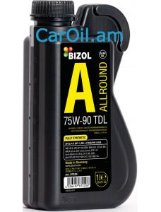 BIZOL Allround TDL 75W-90, 1L Կիսասինթետիկ
