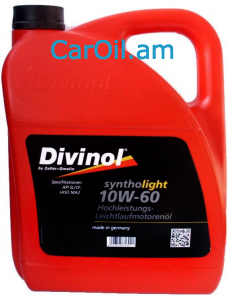Divinol Syntholight 10W-60 5L Սինթետիկ