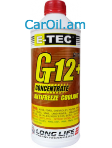 E-TEC Antifreeze Concentrate  (-80) G12+ 1.5կգ  կարմիր