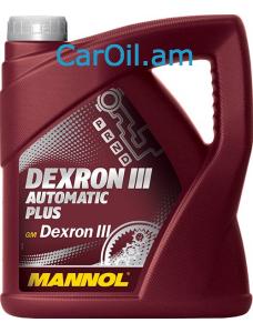 MANNOL Dexron III Automatic Plus Կարմիր 4L