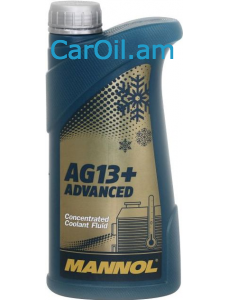MANNOL AG13+ Advanced Antifreeze 1L Դեղին