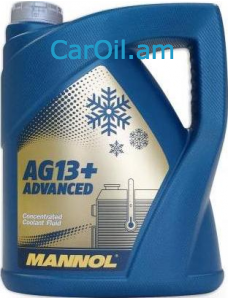 MANNOL AG13+ Advanced Antifreeze 5L Դեղին