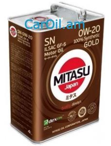 MITASU GOLD 0W-20 4L Լրիվ սինթետիկ