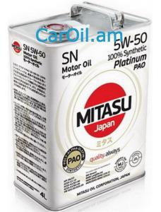 MITASU 5W-50 4L Լրիվ սինթետիկ
