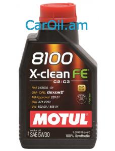 MOTUL X-CLEAN FE 5W-30 1Լ Լրիվ սինթետիկ