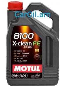 MOTUL X-CLEAN FE 5W-30 5Լ Լրիվ սինթետիկ