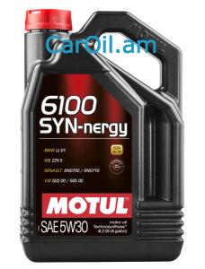 MOTUL 6100 SYN-NERGY 5W-30 4L Կիսասինթետիկ