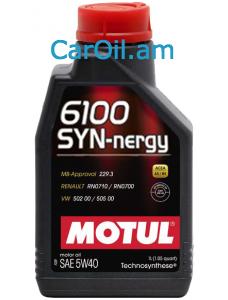 MOTUL 6100 SYN-NERGY 5W-40 1L Կիսասինթետիկ