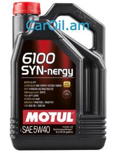 MOTUL 6100 SYN-NERGY 5W-40 4L Կիսասինթետիկ