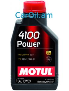 MOTUL 4100 POWER 15W-50 1L Կիսասինթետիկ