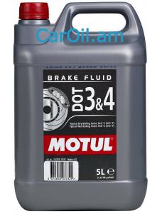MOTUL DOT 3 & 4 BRAKE FLUID 5L Արգելակման հեղուկ
