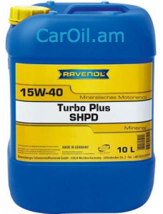 RAVENOL Turbo-Plus SHPD 15W-40 10Լ Միներալ