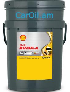 SHELL RIMULA R6 M 10W-40 20L Դիզել Լրիվ սինթետիկ