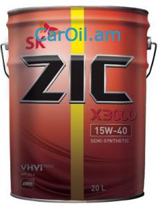 ZIC X3000 15W-40 20L  Կիսասինթետիկ դիզել